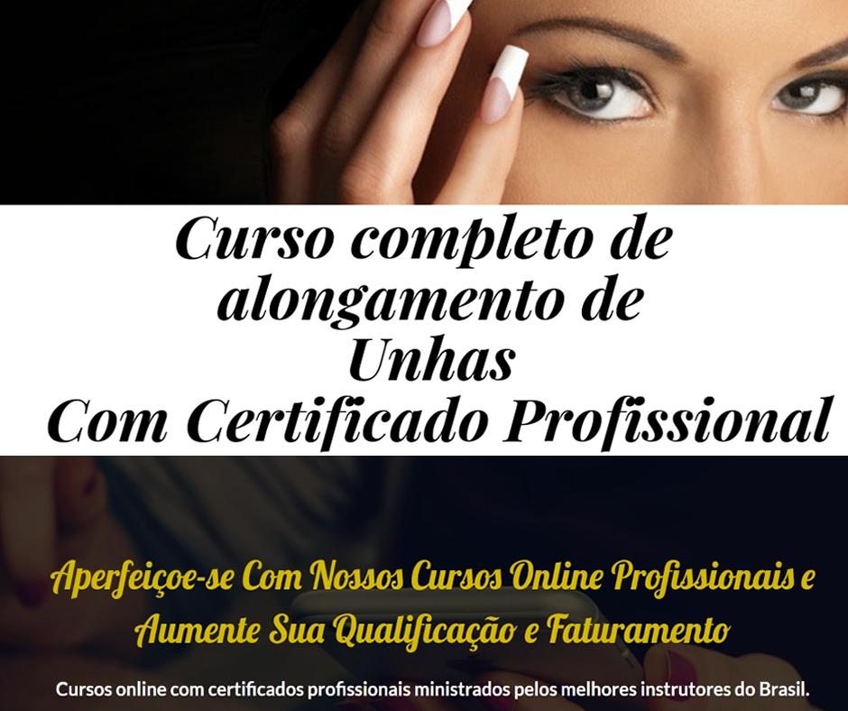 Curso Online Completo de Alongamento de Unhas  Com Certificado Profissional