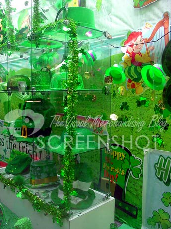 Party Fair St. Patrick%27s Day window display