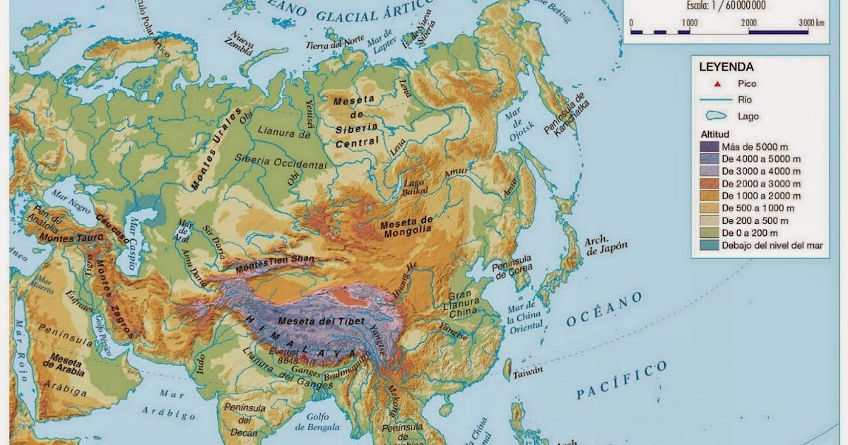Asl diversificaci n mapa asia f sico for Bengala asia
