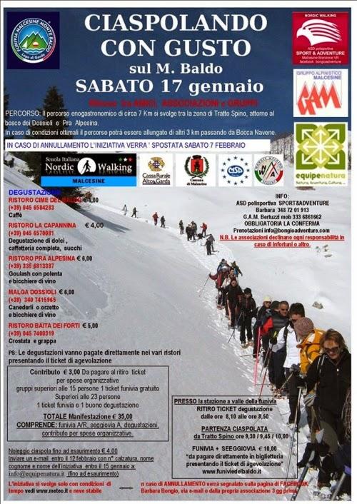 Ciaspolando con Gusto  17 Gennaio  Monte Baldo
