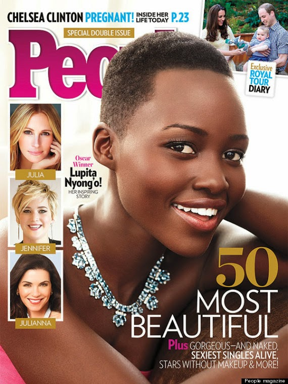 The most beautiful person alive is Lupita Nyong'o