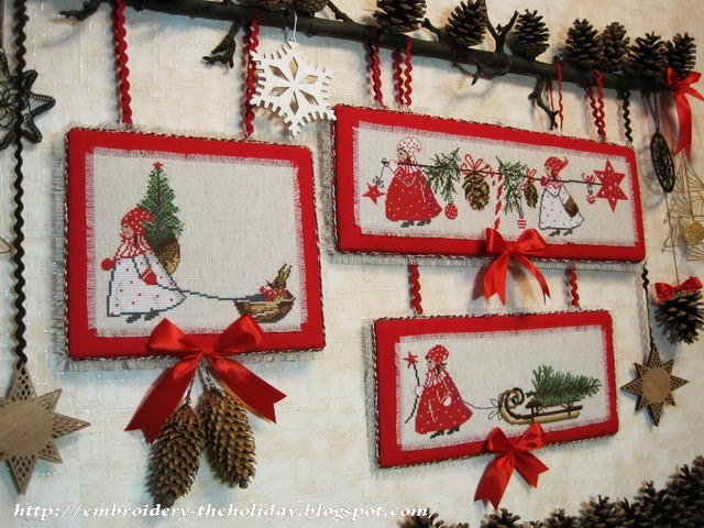 Embroidery ... The holiday, which is always with me...: Bellpull u0026quot;Advent im Winterwaldu0026quot; / Acufactum