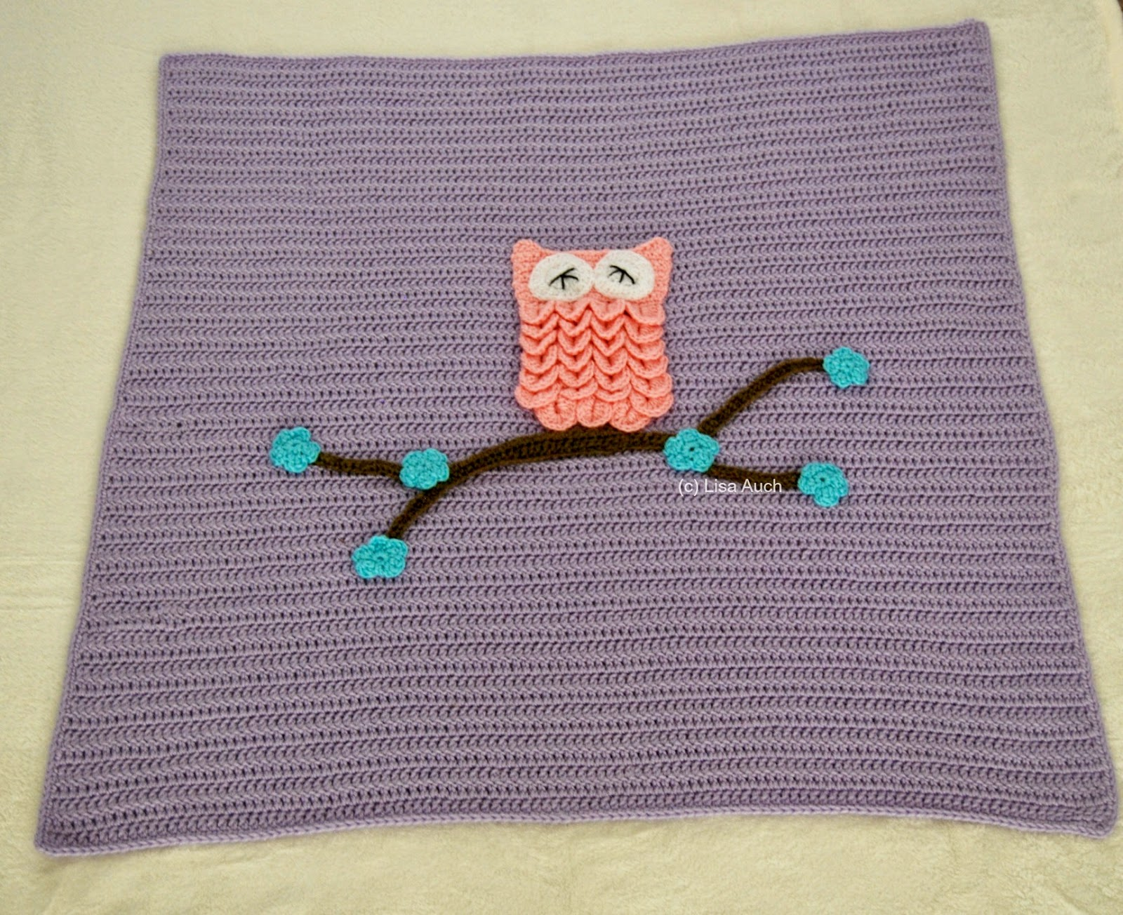 Free Crochet Pattern for an Easy Baby Blanket With Optional Owl ...