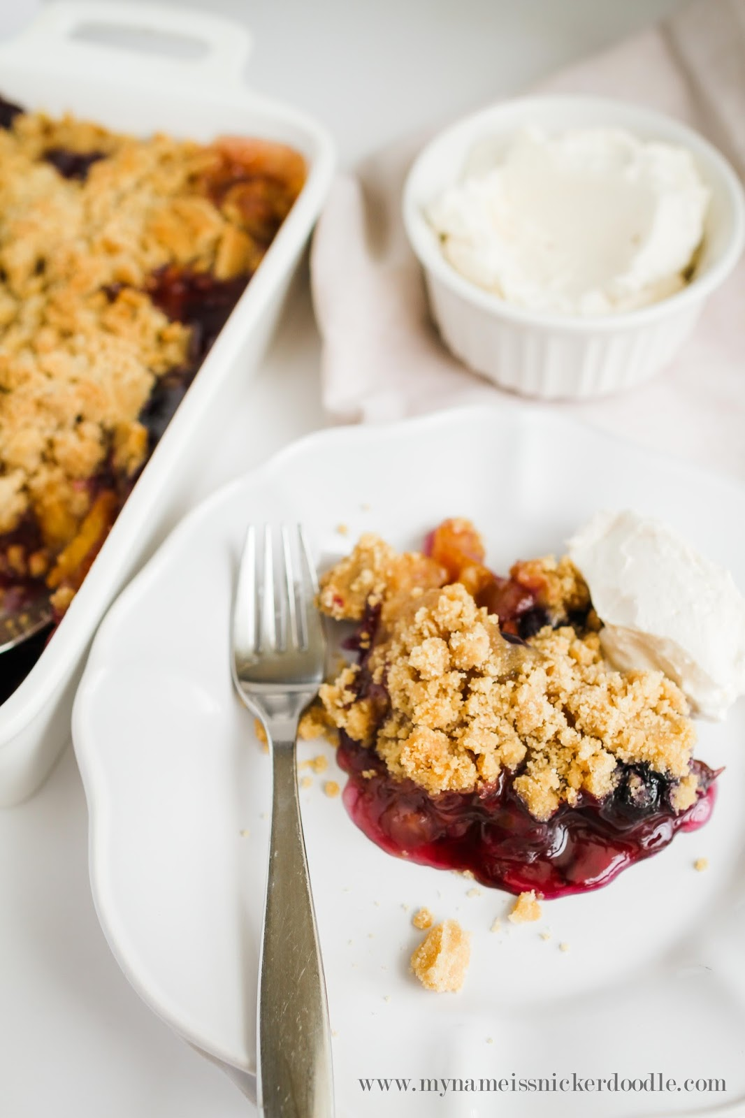 Fruity Peach and Blueberry Crisp Recipe