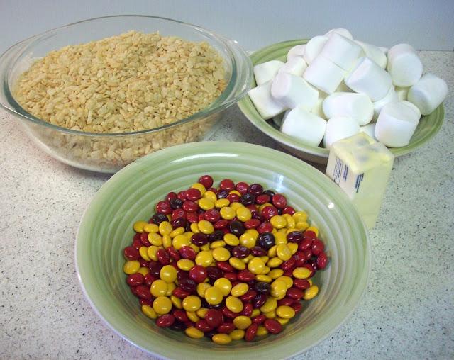 Ingredients for M&M Rice Krispies #shop