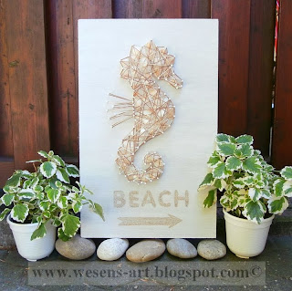 Seahorse Beach Sign     wesens-art.blogspot.com