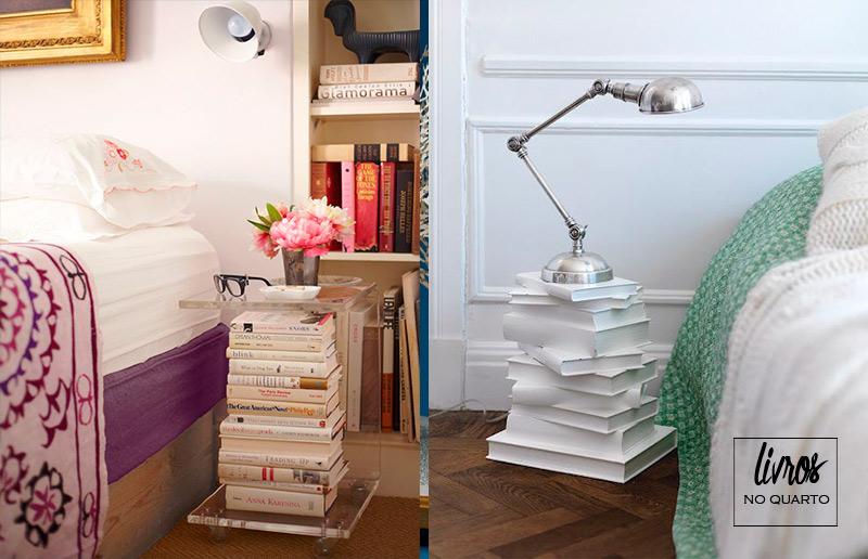 Ideias para livros na decoração da casa