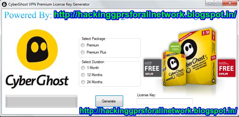 cyberghost free premium key