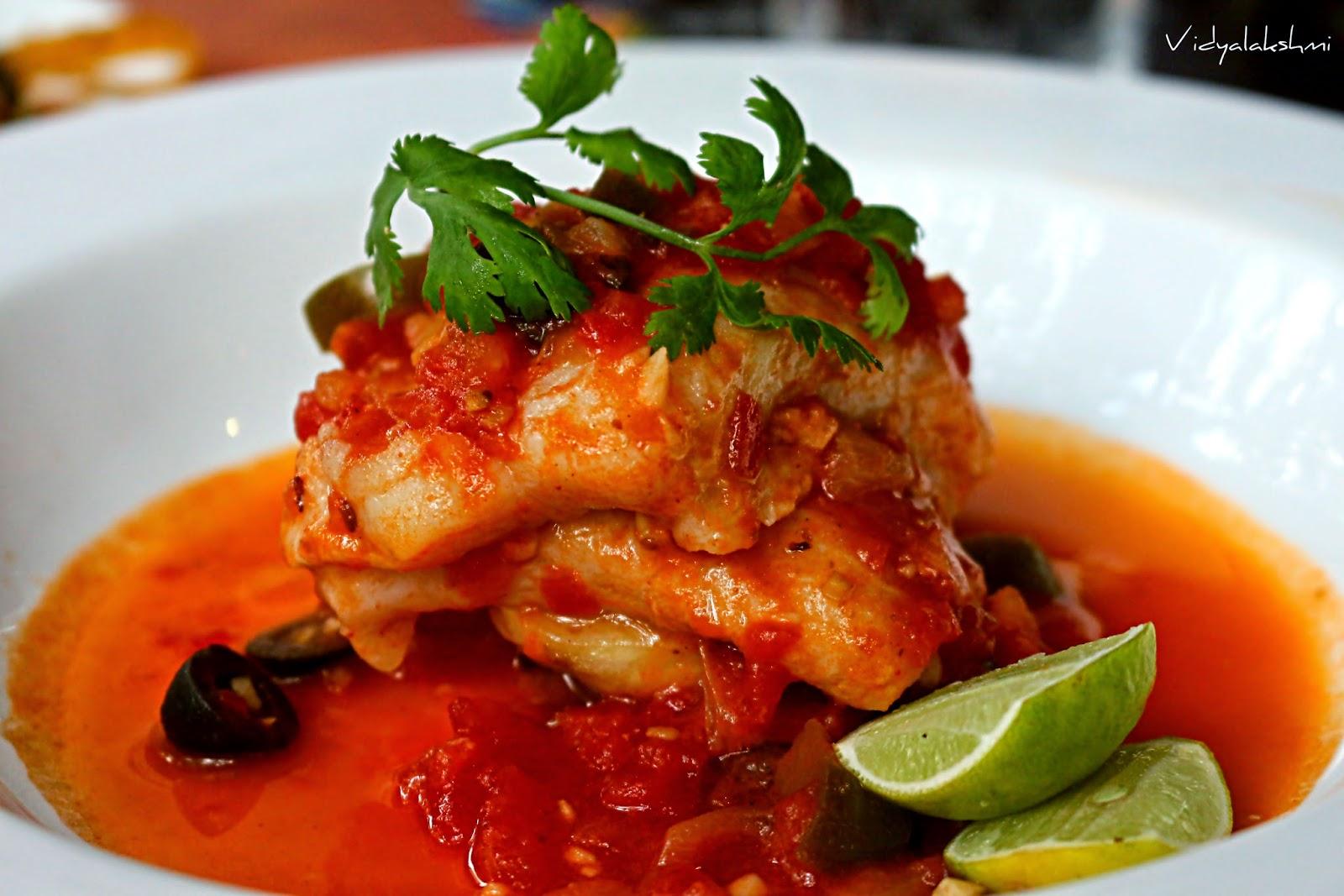 Vidyascooking new menu habanero koramangala bengaluru for Fish veracruz recipe