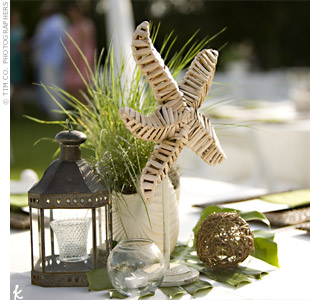 Beach Wedding Table Centerpiece