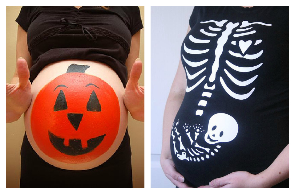 have you seen those halloween shirts for pregnant moms or pictures of painted pumpkin pregnant bellies - Pregnant Halloween Painted Bellies