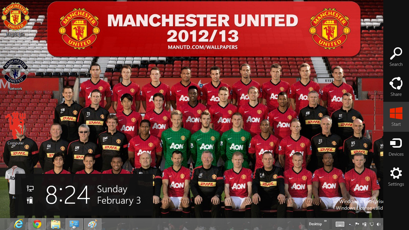 Tema Manchester United 2013 Untuk Fun Place picture wallpaper image