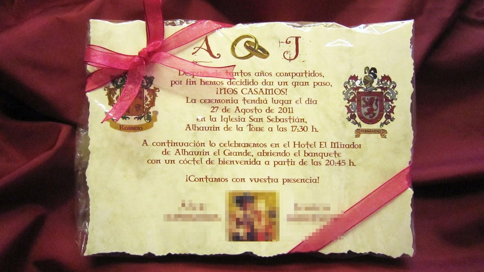 Albumes artesanales y más...: Invitaciones de boda personalizadas