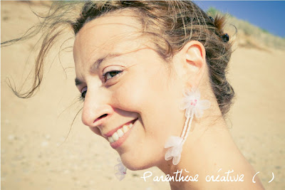 blog-parenthese creative-boucles d'oreilles-elsa-mariage-tulle-fleur-pliage