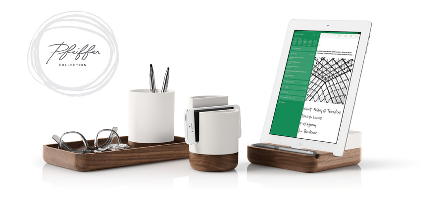 卓上をEvernote製品で飾る「PFEIFFER WOOD BASE COLLECTION」