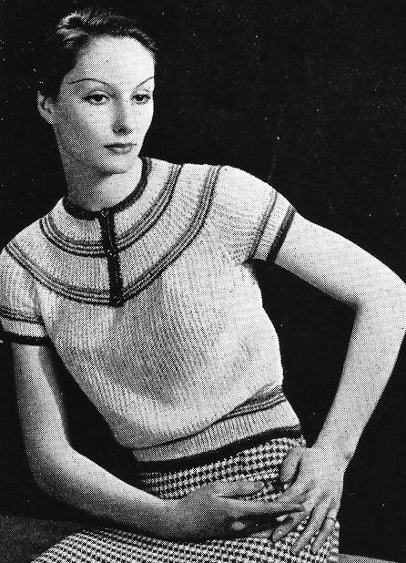 1930's Free Knitting Pattern