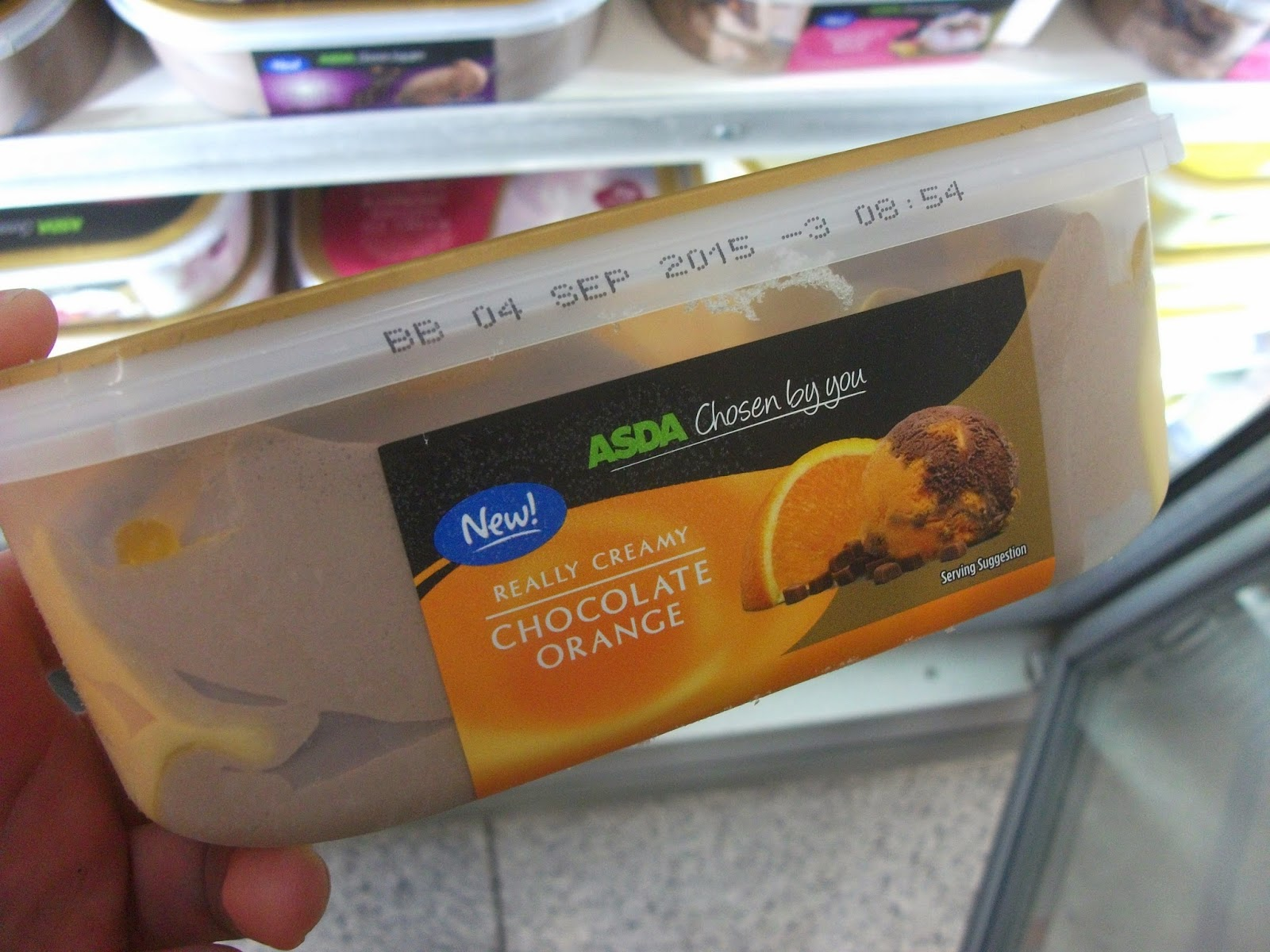 Asda Chocolate Orange Ice Cream!: fans of chocolate orange will love ...