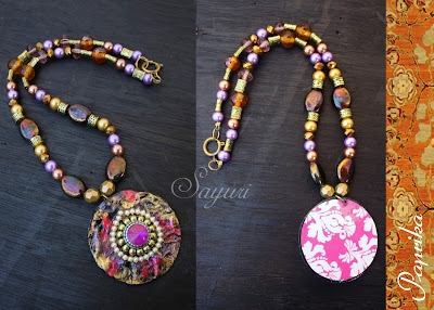 indian paper necklace