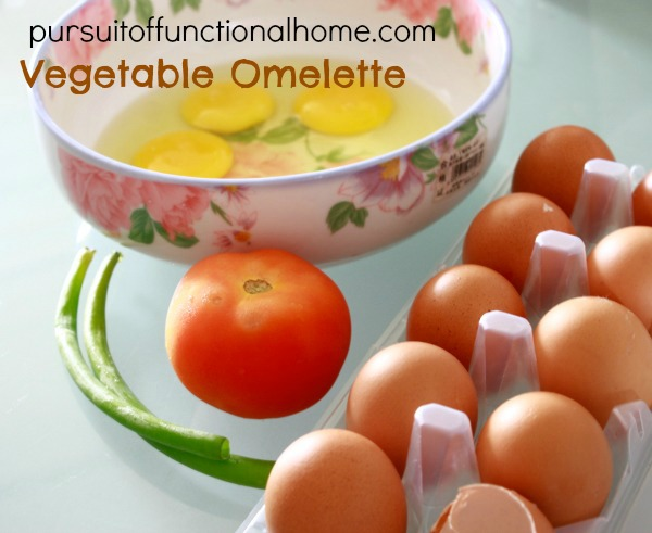 how to make an omelet with vegetables