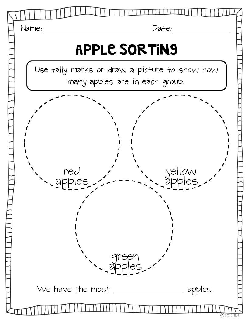Worksheet Graphing For Kindergarten apple graphs and glyph miss kindergarten i have my students bring in one we put all the apples large basket then sit a learning circle on carpet sort by