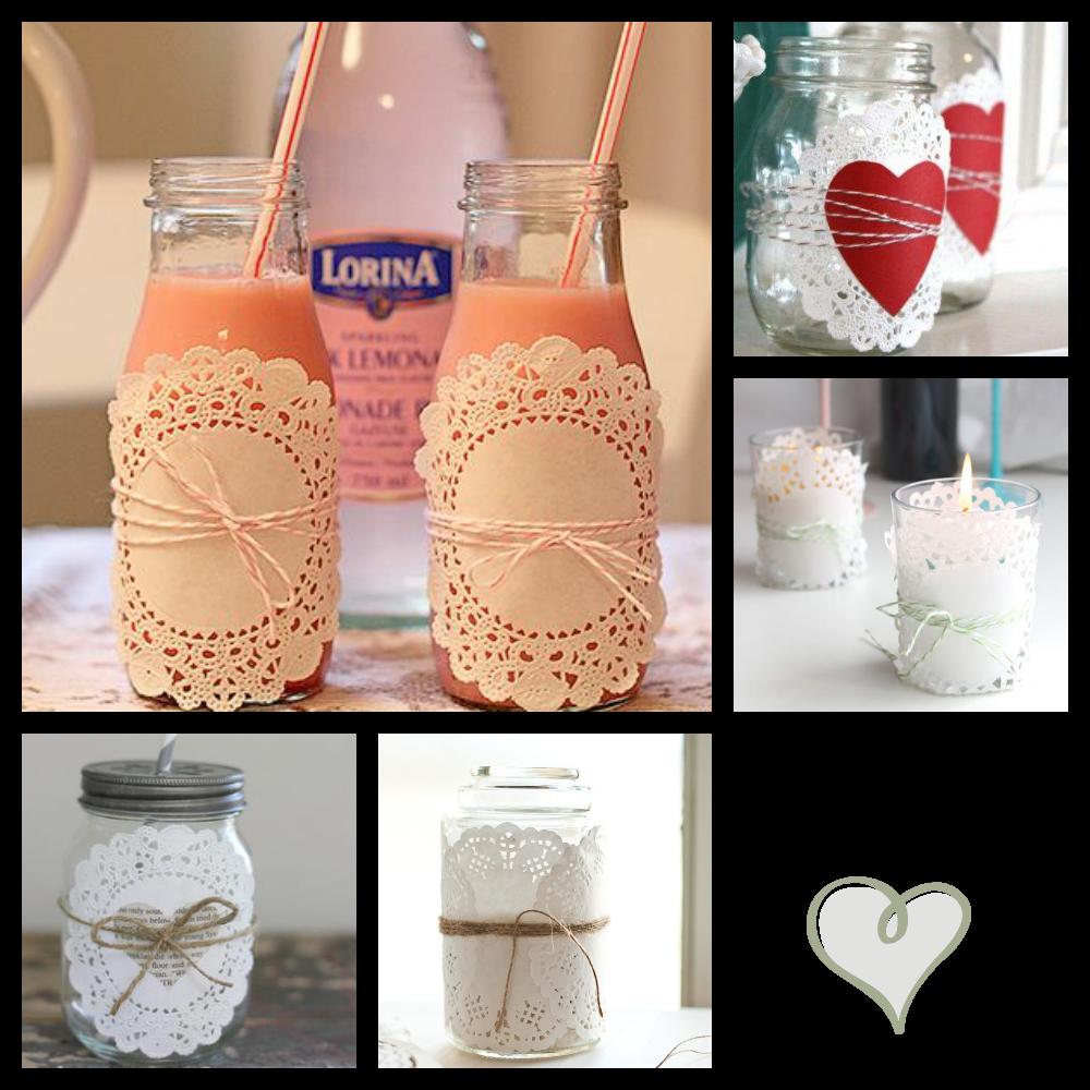 Una pizca de hogar las mejores ideas para decorar con for Envases de vidrio decorados