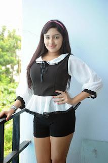 Anjana Deshpandey in Spicy Black Shorts and Tight Top Beautiful Diva Anjana Deshpandey