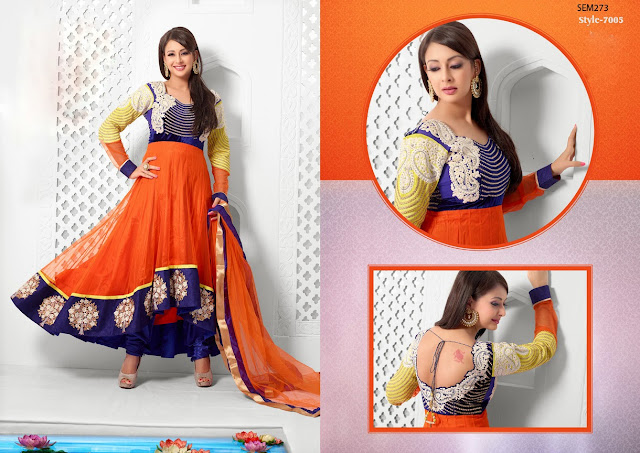 Priti Jhangini Designer Long Anarkali Suit,New Designer Ankle Length Anarkali suit