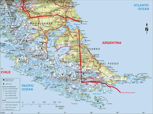 Tierra Del Fogo map