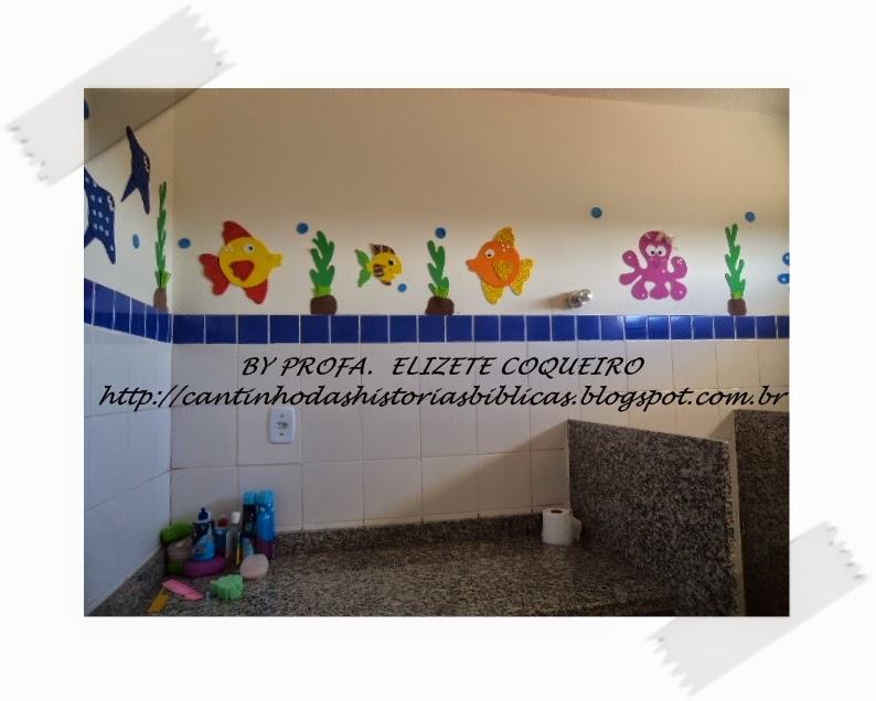 CANTINHO DAS HISTÓRIAS BÍBLICAS -> Decoracao Para Banheiro De Escola Em Eva