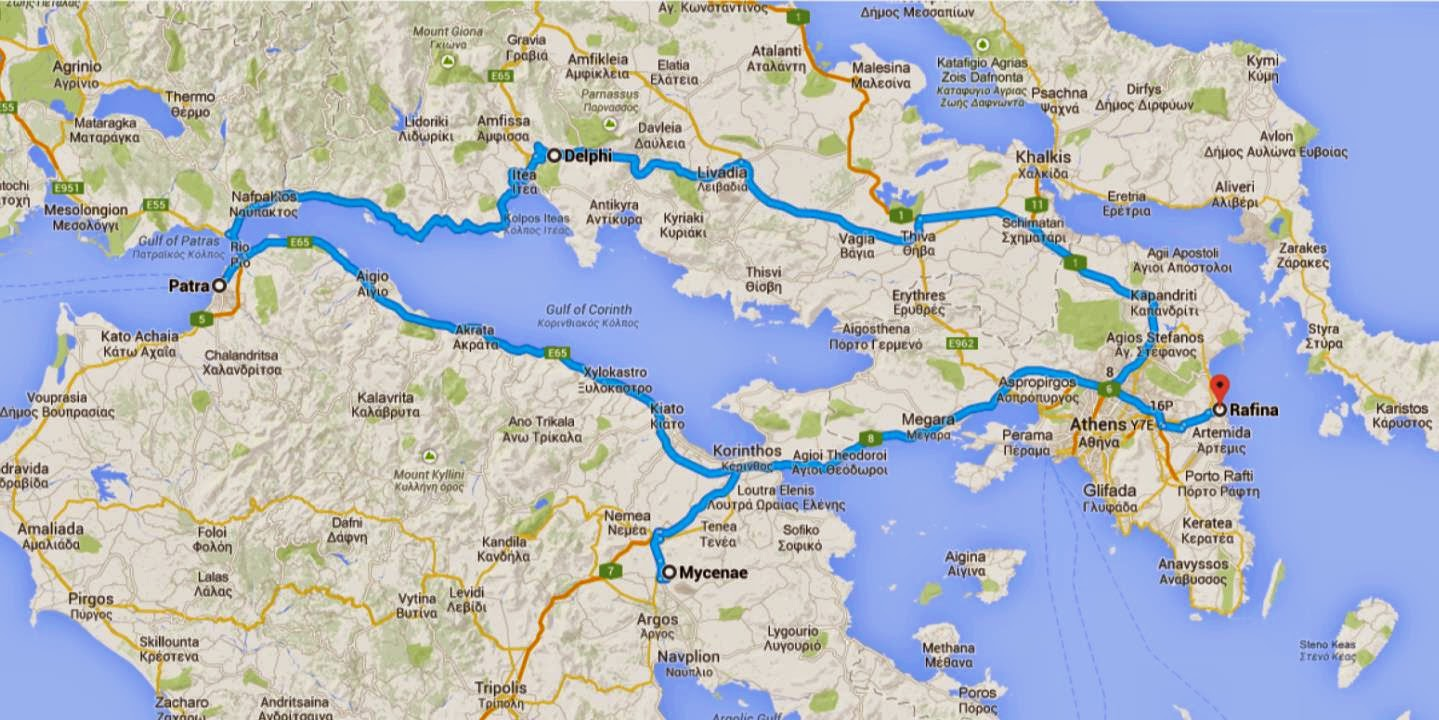 road trip in greece