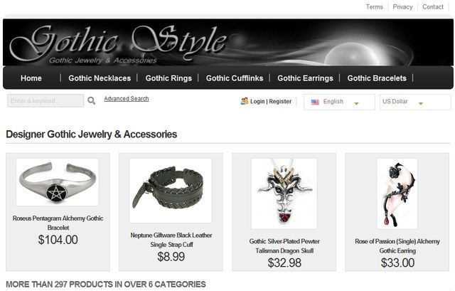 Gothic Jewelry Necklaces at GothicStyle.net