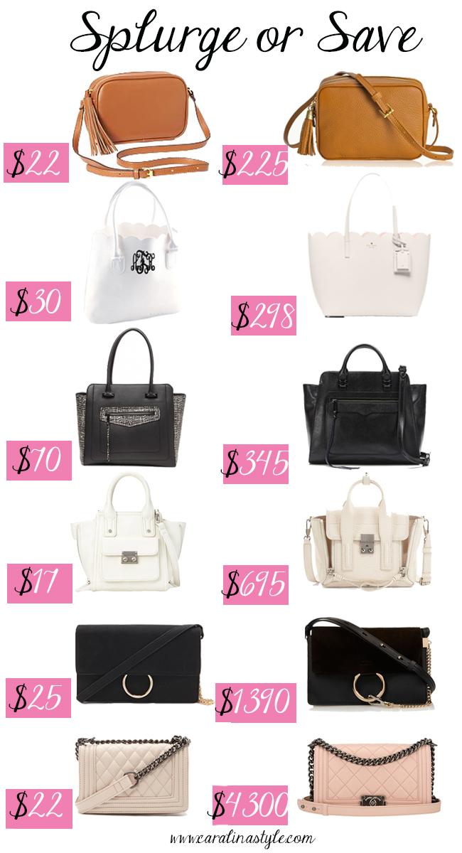 Fashion Friday Splurge Or Save Handbags