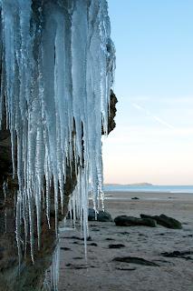 Winter in Cornwall. Watergate bay
