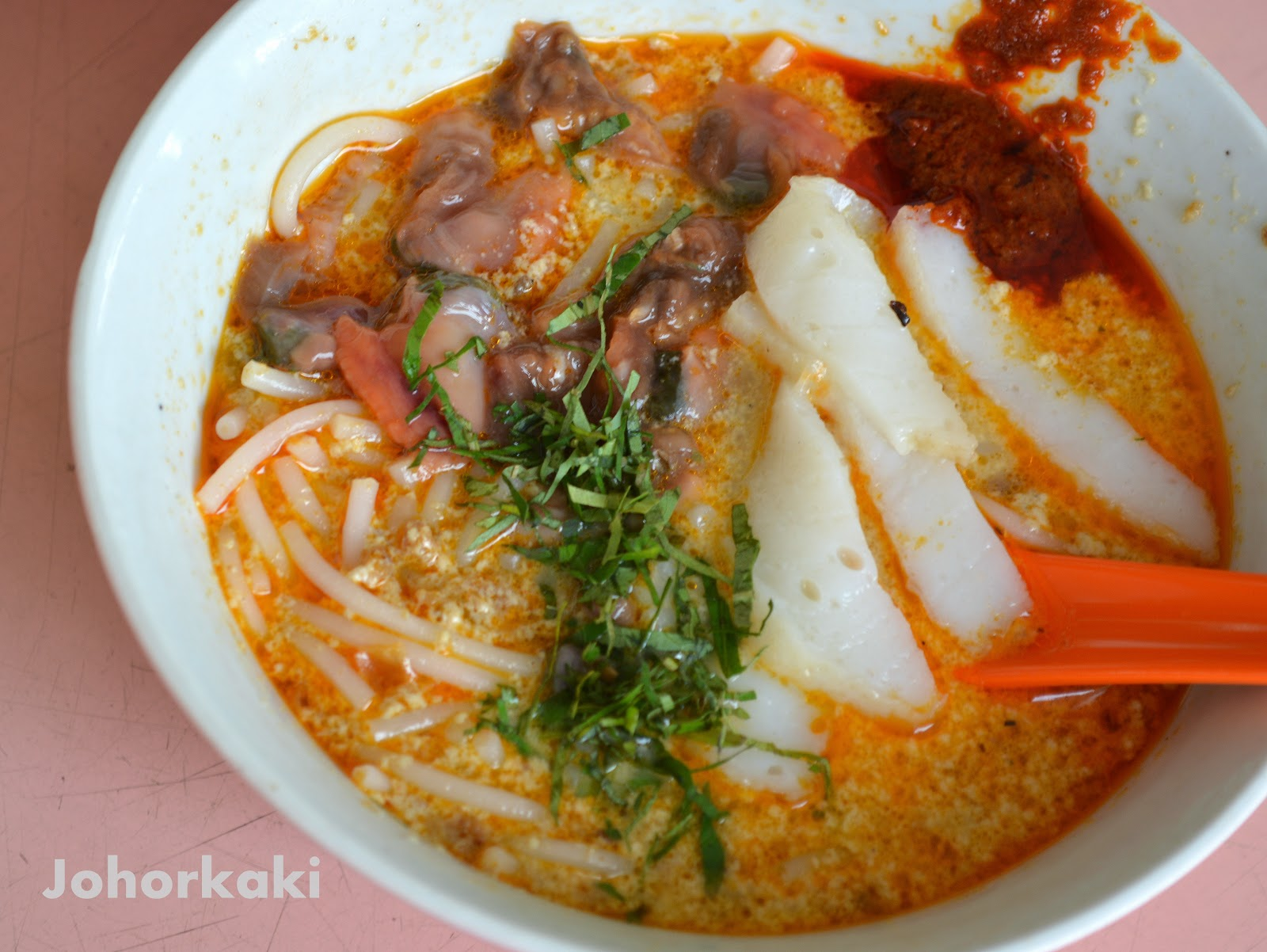 Sungei road laksa singapore johor kaki food travel for Cuisine kaki