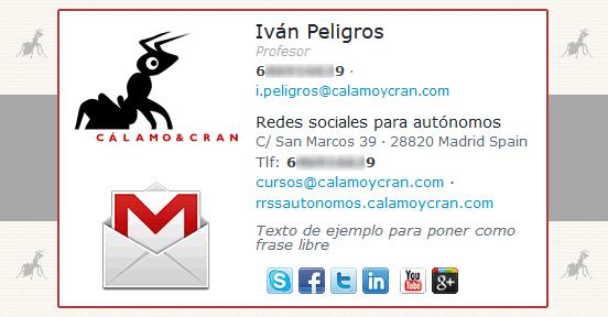 Personaliza tu firma de correo electrónico