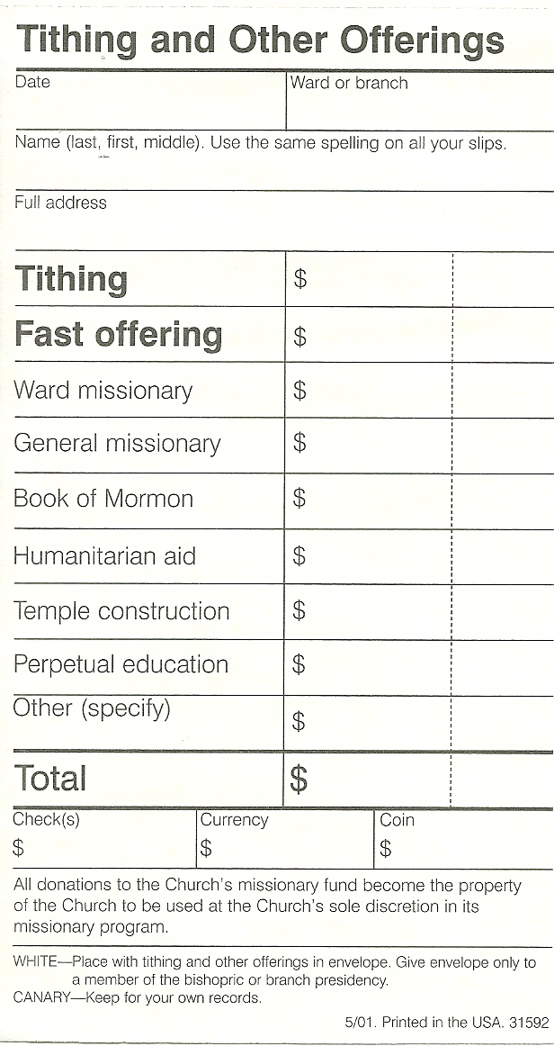 Tithing Sheets Coloring Pages
