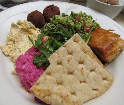 middle eastern meze, beetroot dip, feta dip, tabouleh, spanakopita, vegetarian, London, eat out, Soho, Mildred's, visit, delicious, review