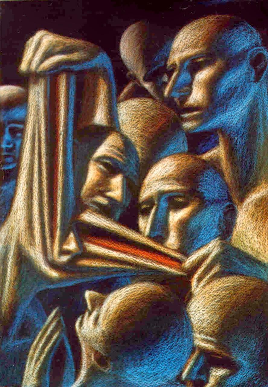 Por el artista Abisay Puentes pintura de 1998