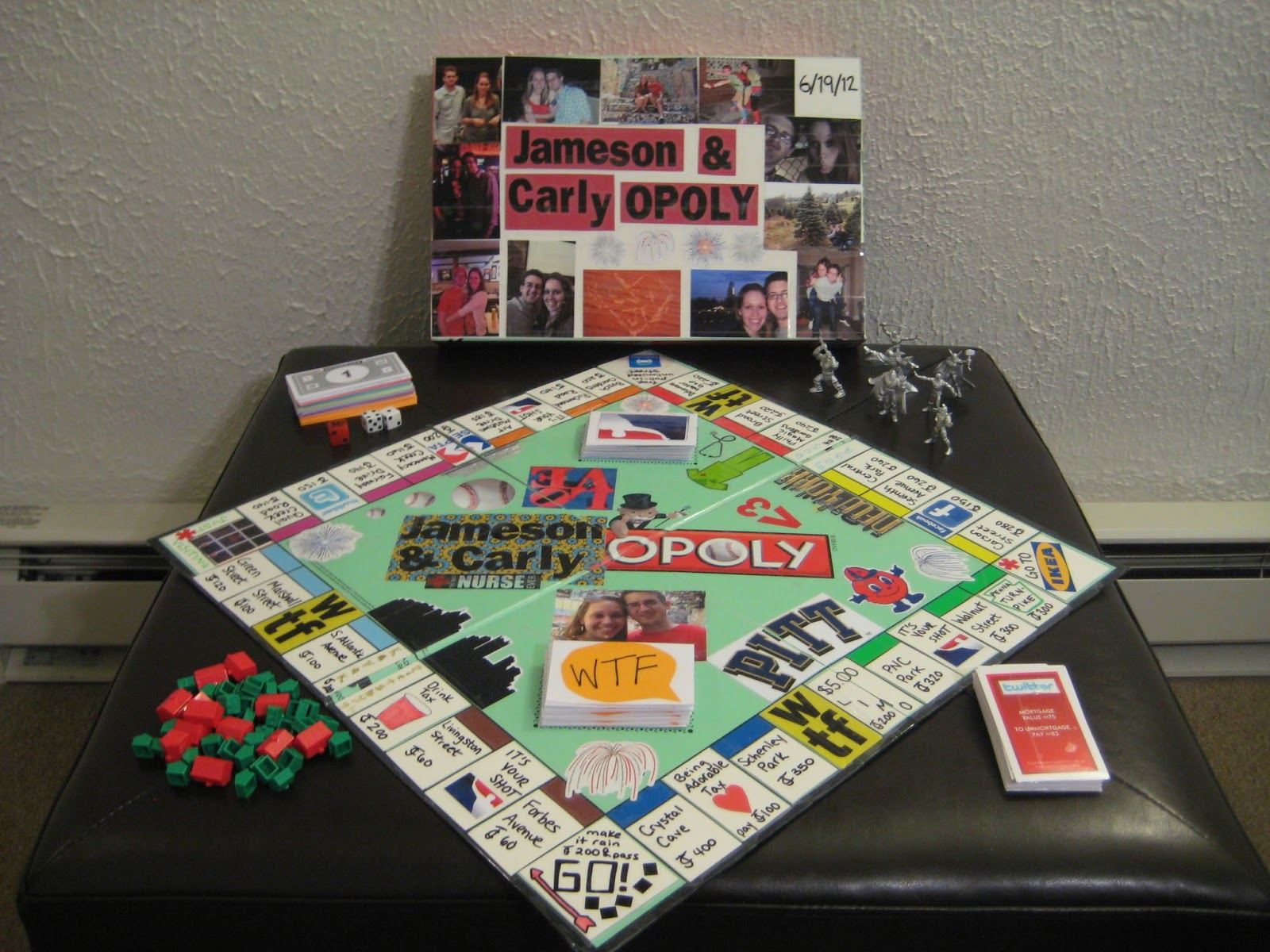Creativity productivity diy monopoly board for Boyfriend gifts for anniversary