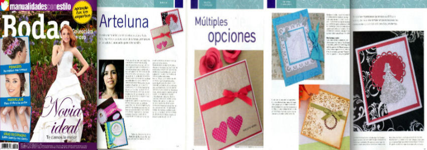 Publicación de mis productos en la Revista Manualidades con Estilo Edición Especial Bodas