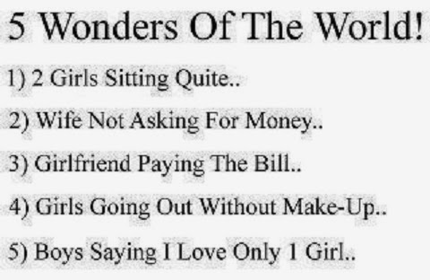 Funny 5 Wonders of The world