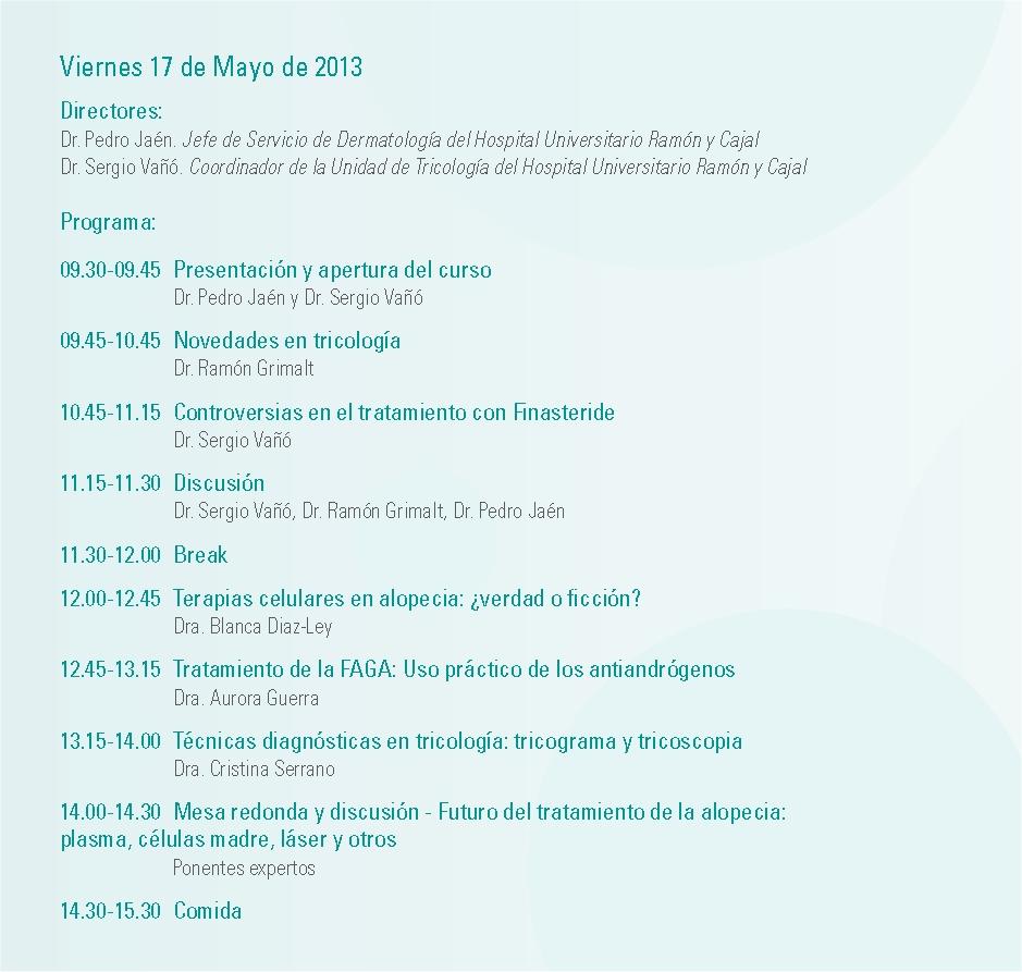 Dermatolog a madrid curso de actualizaci n en tricolog a - Cursos universitarios madrid ...