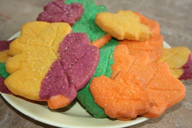 Fall Sugar Cookies