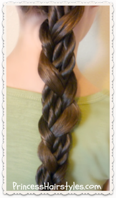 Easy braid tutorial.  Mosaic twist braid video.