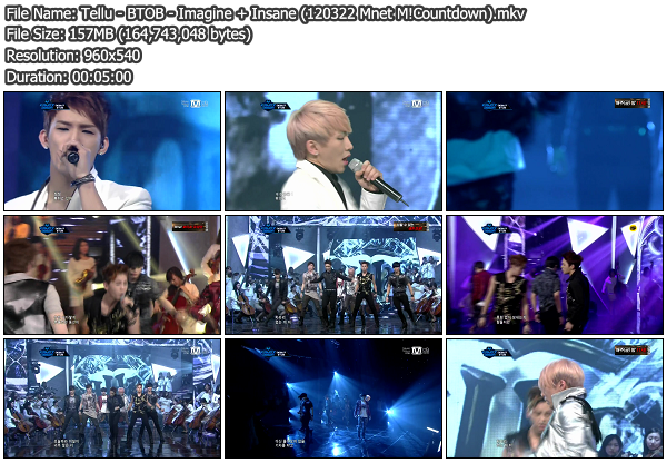 [Perf] BTOB   Imagine + Insane @ Mnet M!Countdown 120322