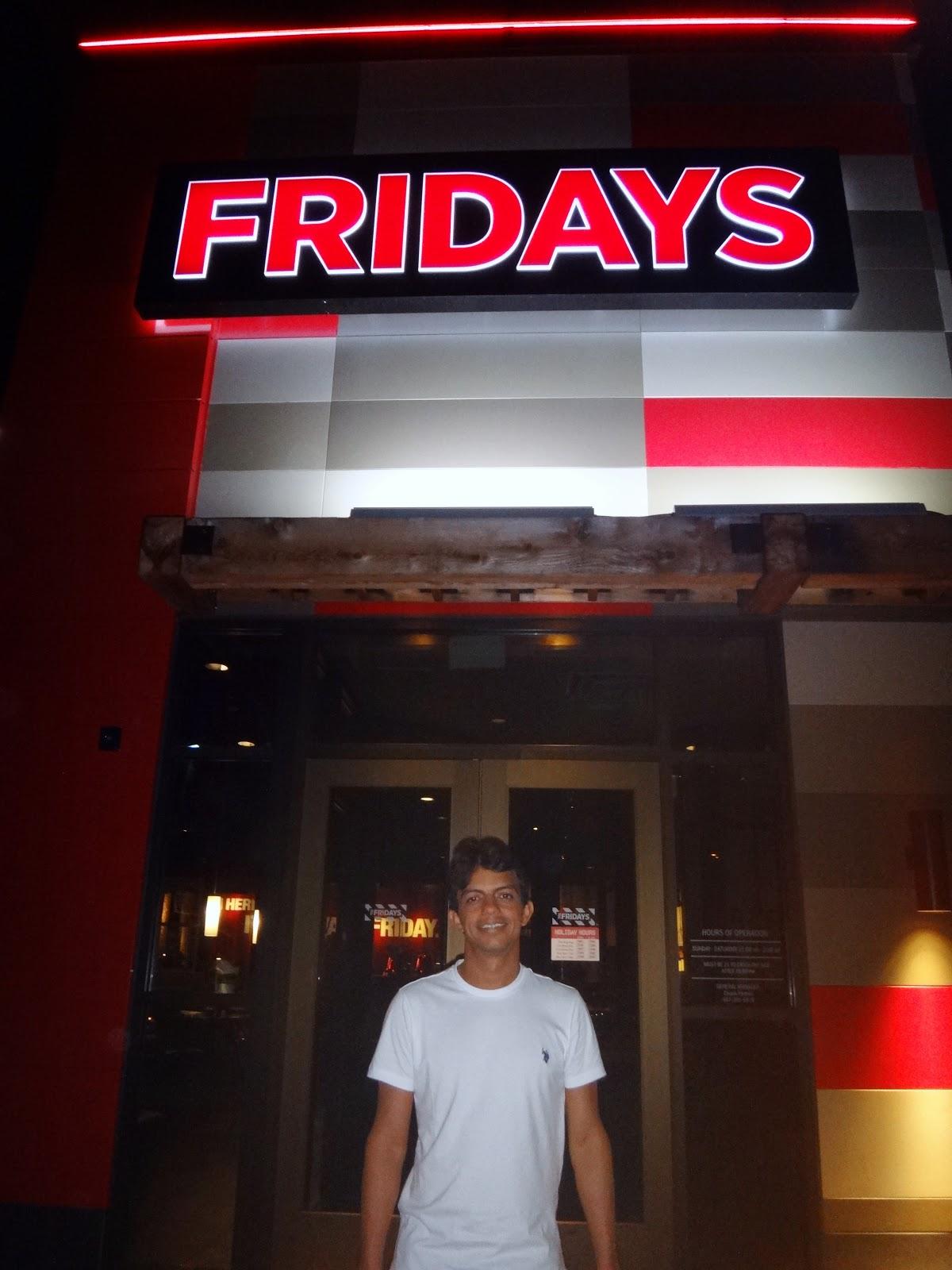 jantar no Fridays - orlando, florida