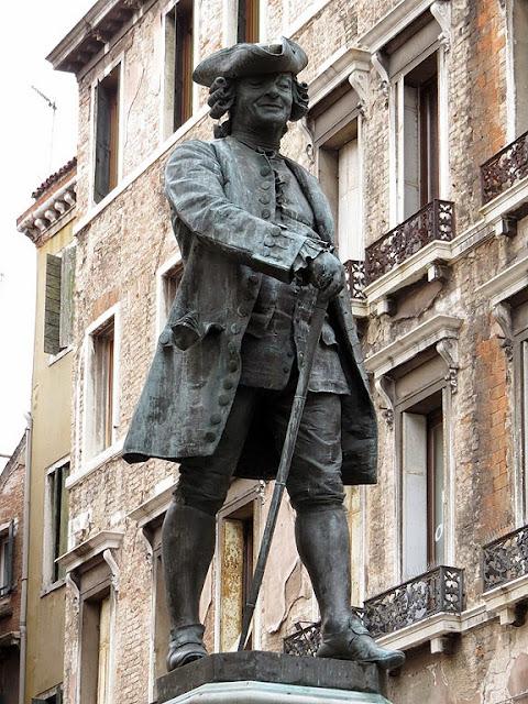 Monument to Carlo Goldoni by Antonio Dal Zotto, Campo San Bartolomeo, Venice,