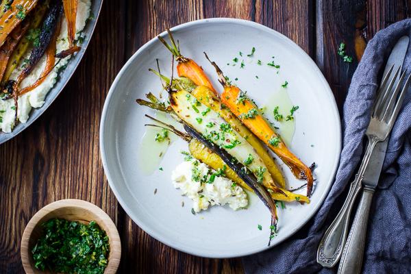 The bojon gourmet cumin and honey roasted carrots ricotta and