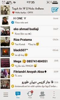 i-bbm tampilan chat