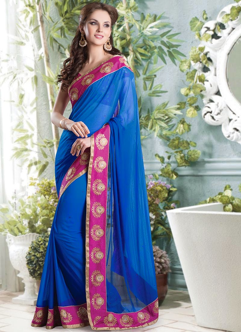 South Indian Party Wear Bridal Saree Fashion